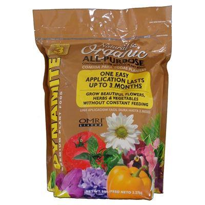 Dynamite all purpose organic plant food 10 2 8 5 lbs - Organic flower fertilizer homemade solutions ...